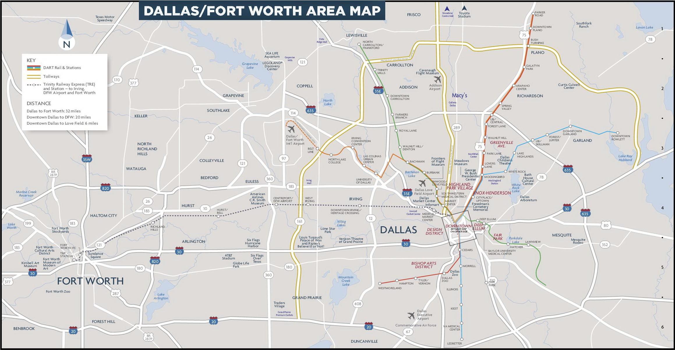 Map Of Dallas Area Dallas area map Map Of Dallas Area