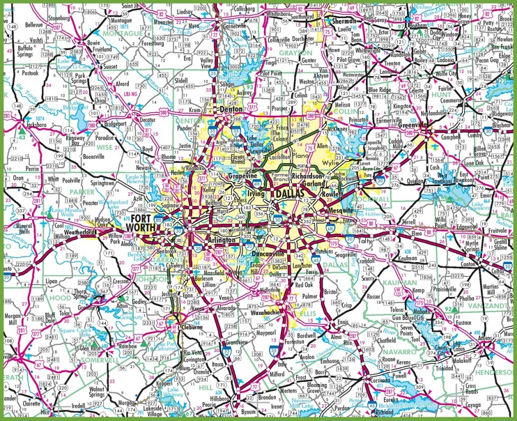 north texas map of cities with Dallas Area Road Map on Louisiana Lpn Requirements And Training Programs together with Shenandoah additionally Dallas Area Road Map besides Worcester Location On The Us Map likewise Denver Downtown Map.