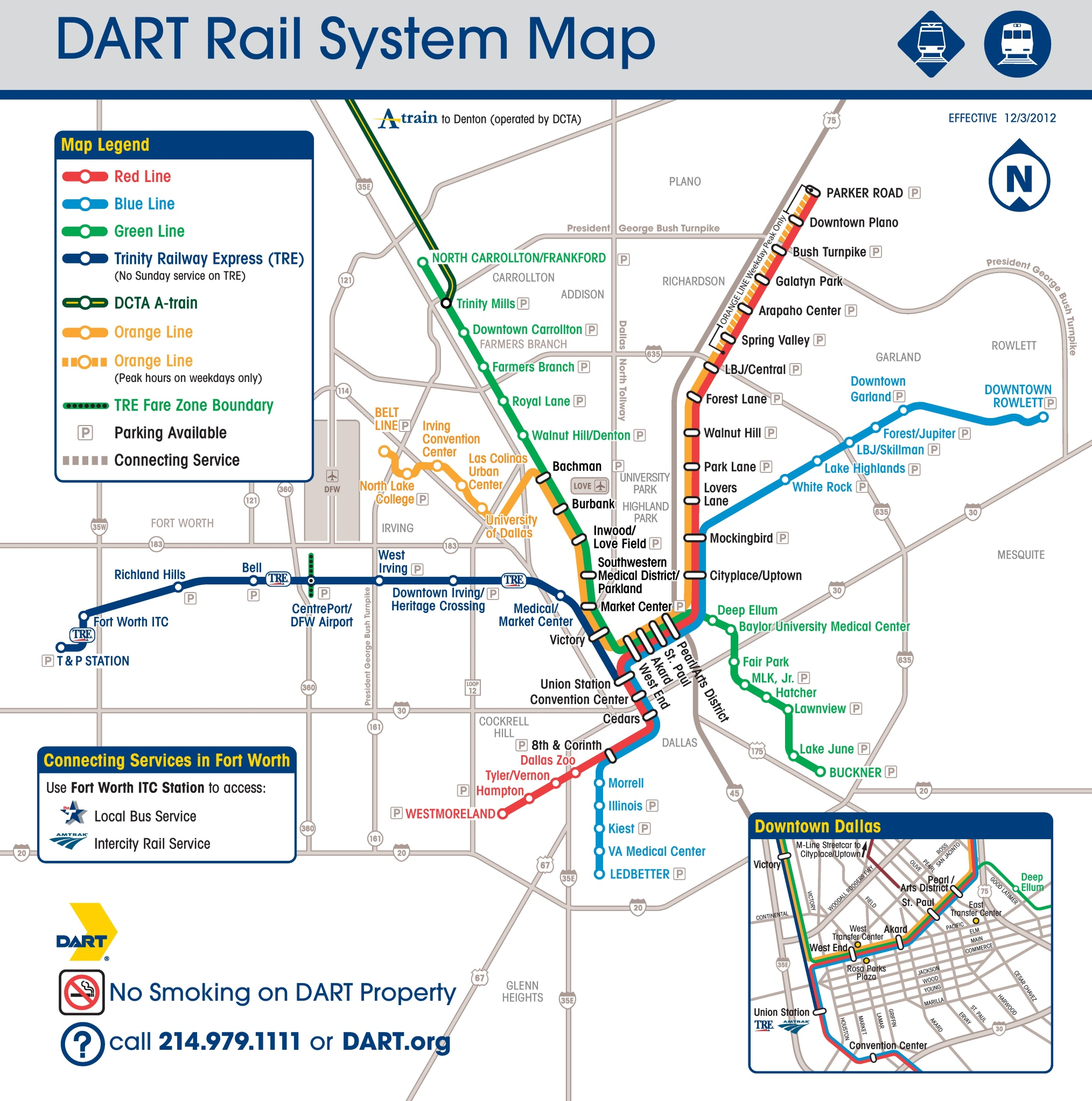 dallas dart rail map -