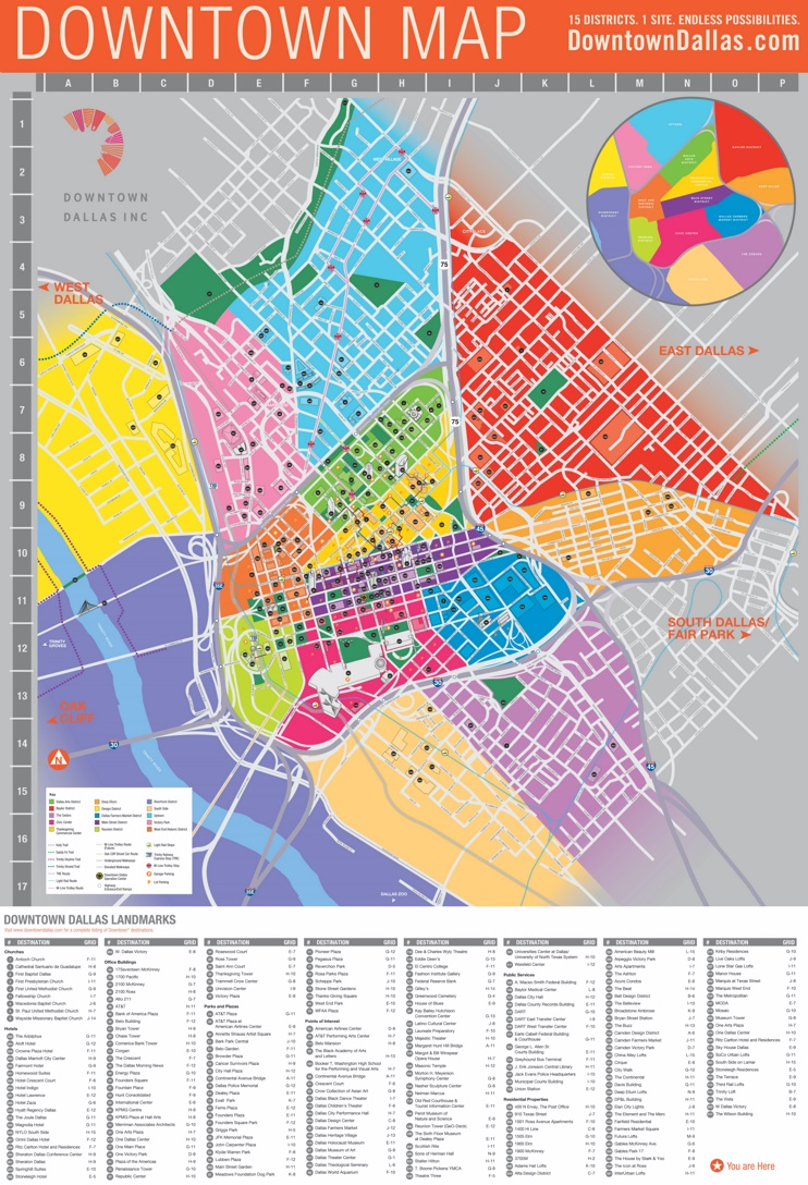 Dallas downtown map