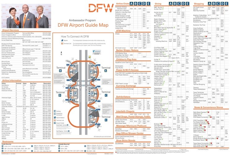 Dallas Fort Worth Airport Map