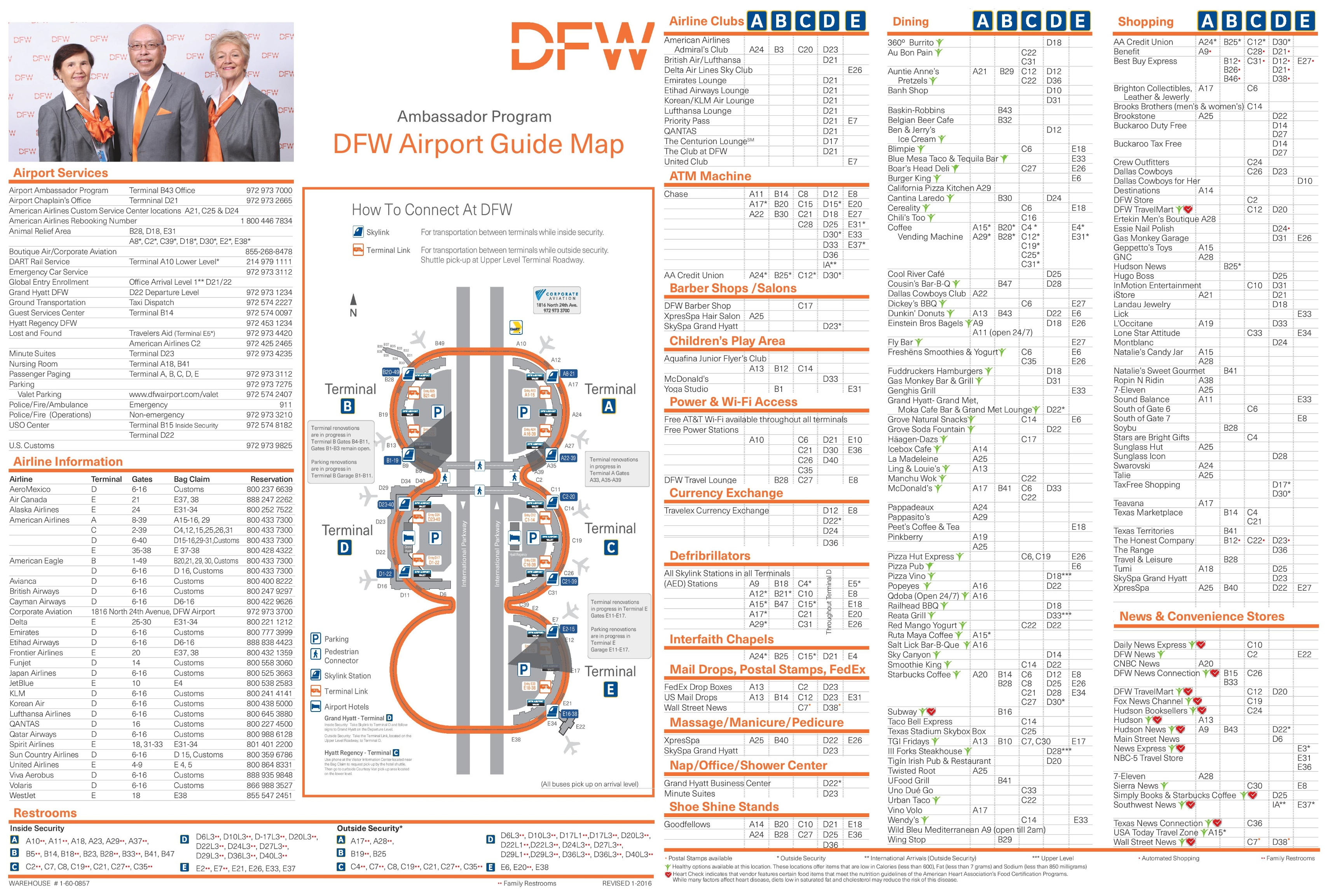 Dallas Ft Worth Airport Map Dallas Fort Worth airport map