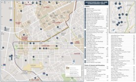 Dallas hotels and tourist attractions map