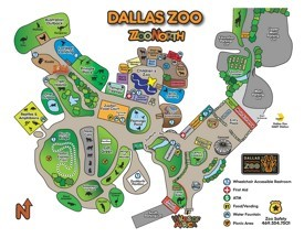 Dallas Zoo map