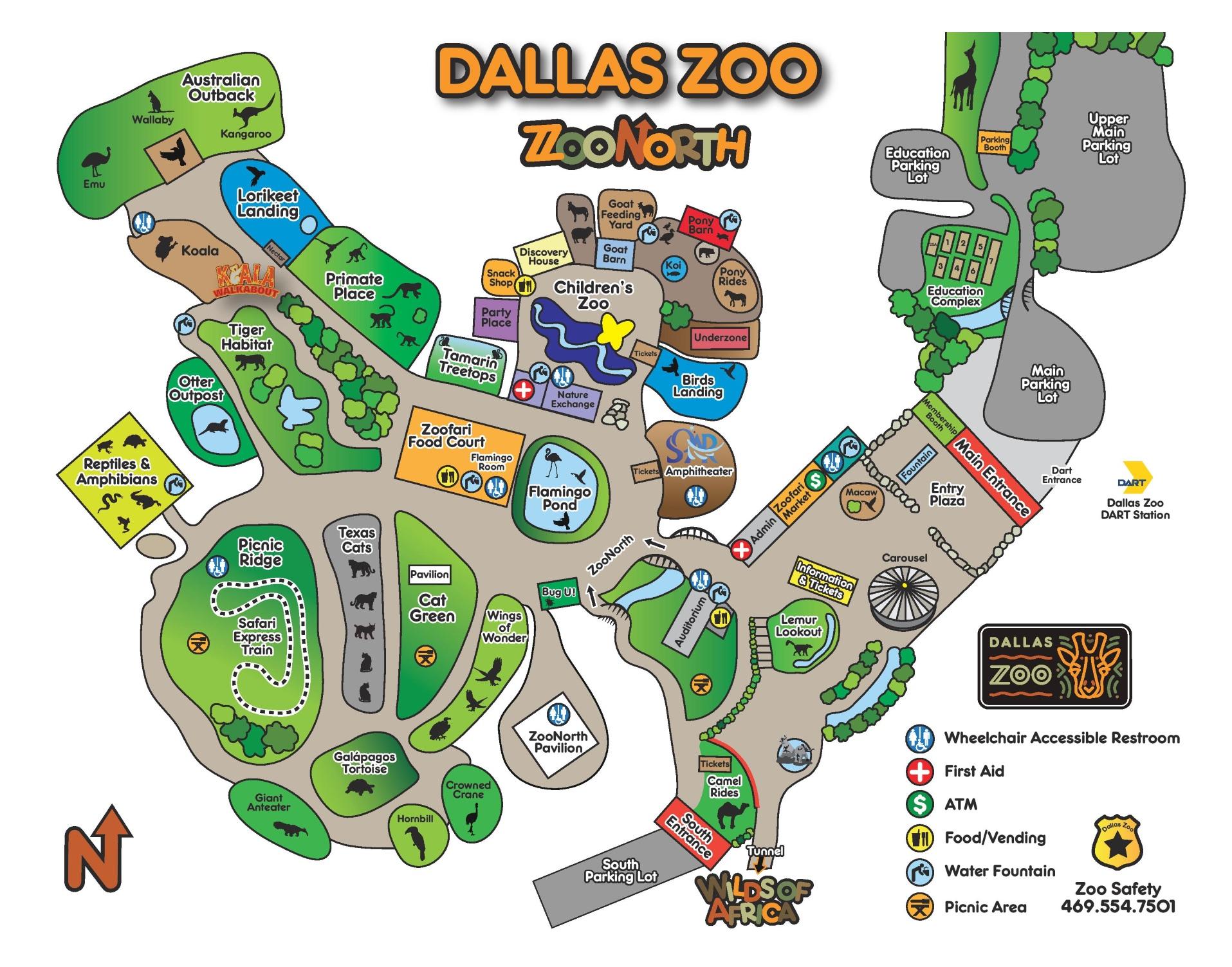 Dallas Zoo Map Dallas Zoo map