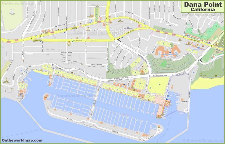 Dana Point City Center Map