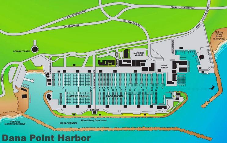 Dana Point Harbor Map
