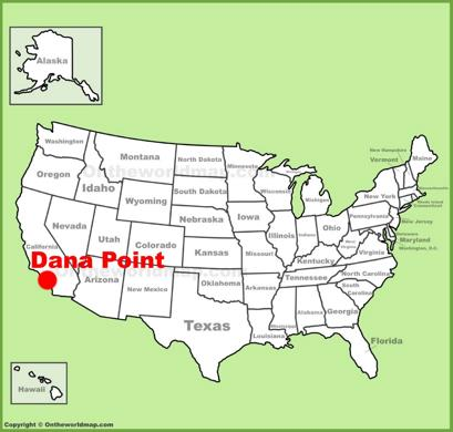 Dana Point Location Map