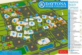 Daytona Beach campus map
