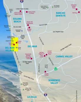 Del Mar Area Shopping Map