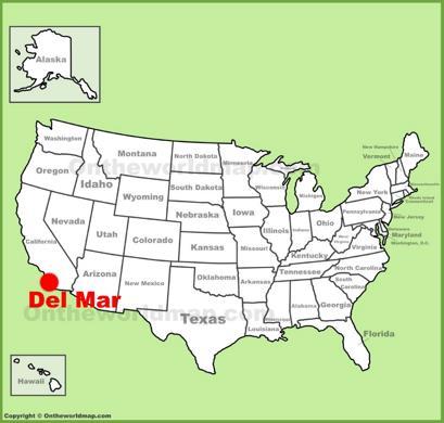 Del Mar Location Map