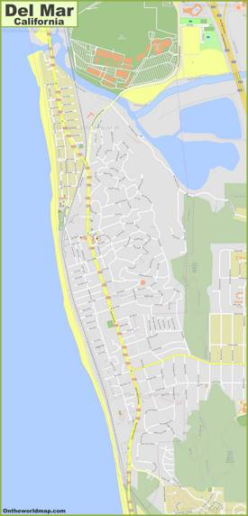 Detailed Map of Del Mar