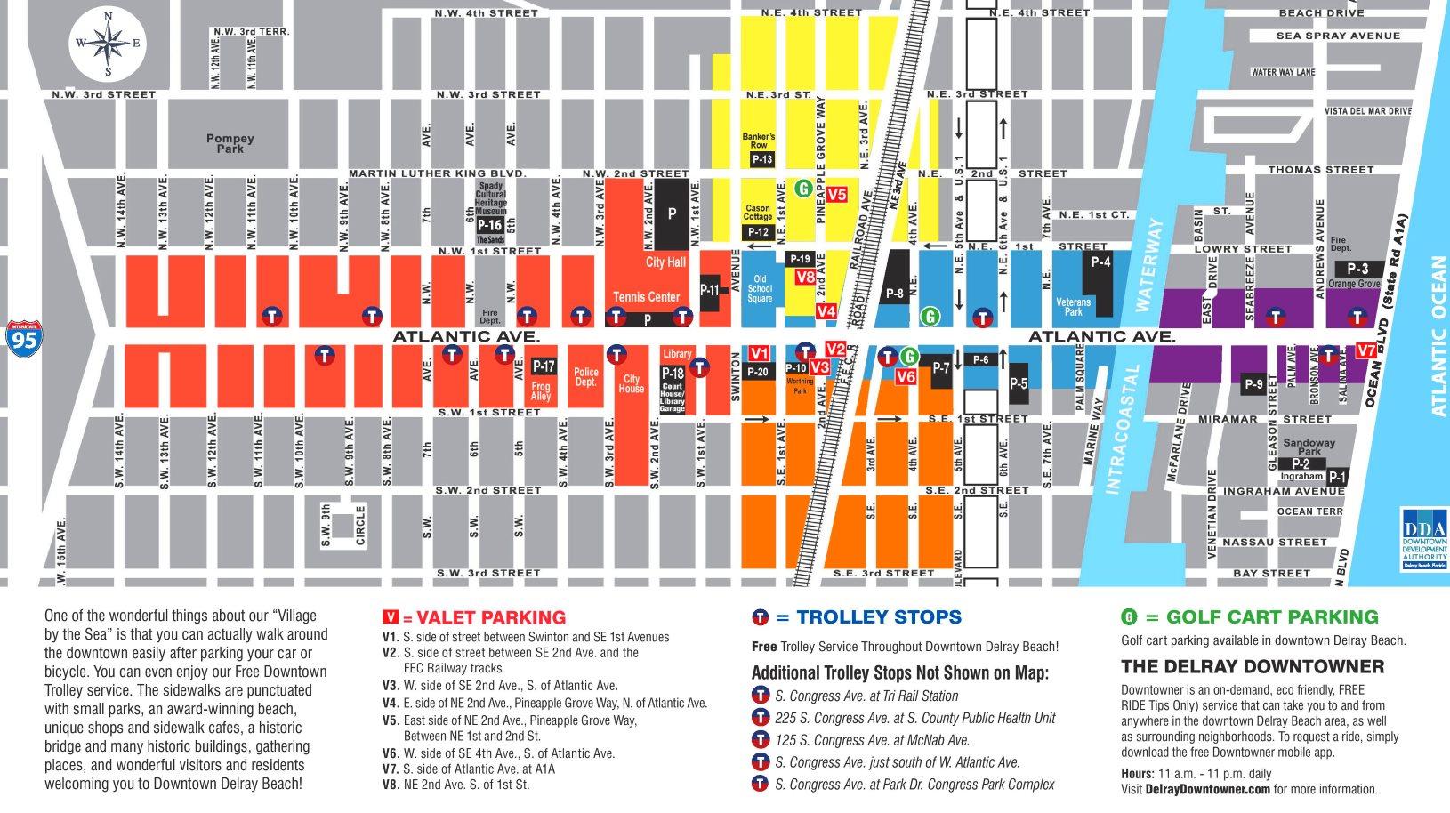 Map Of Florida Delray Beach.Delray Beach Downtown Map