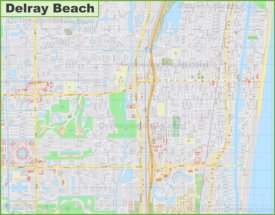 Large detailed map of Delray Beach
