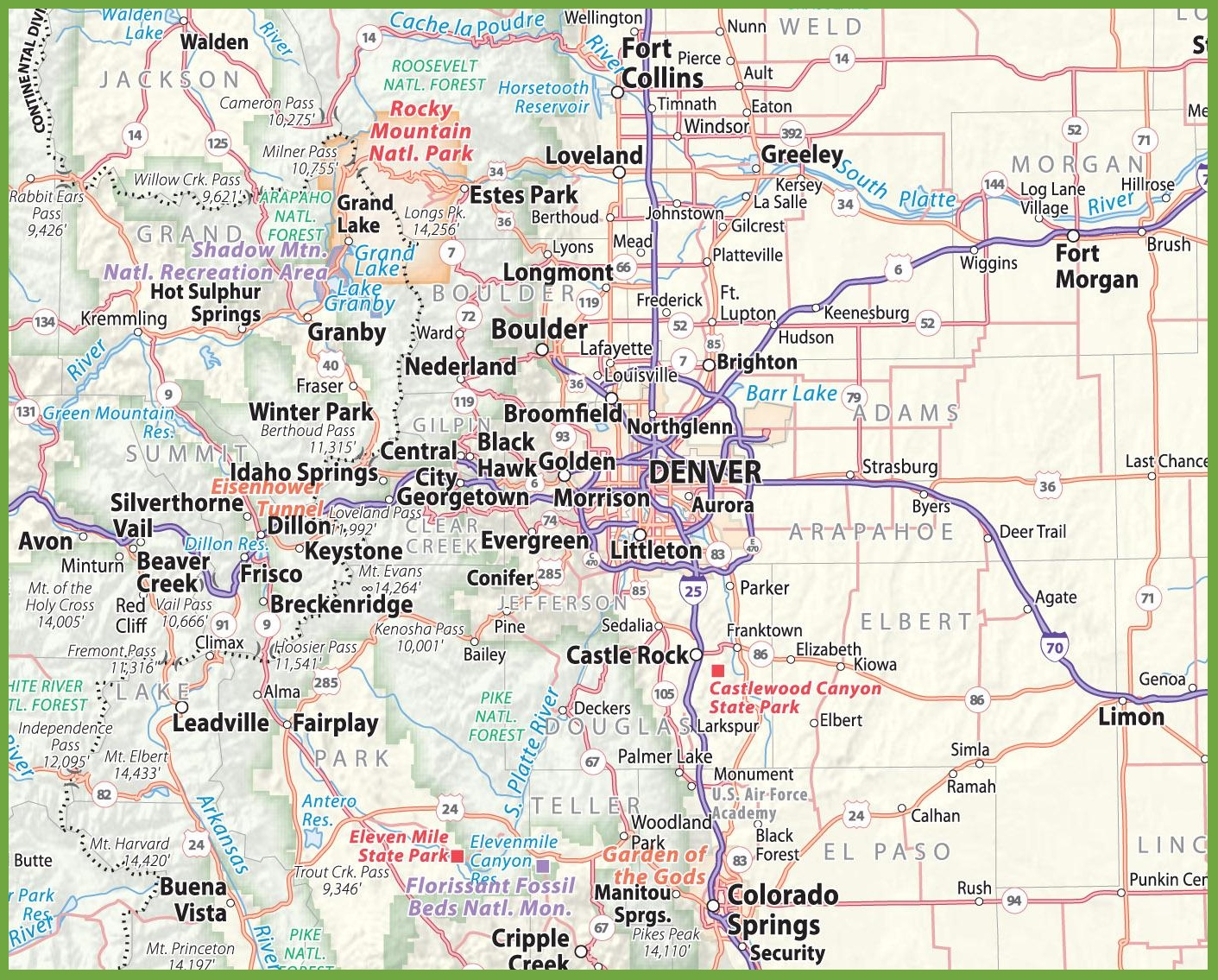 Denver area road map on san diego, boulder colorado map, centennial colorado map, missoula montana map, rocky mountains, evans colorado map, salt lake city, las vegas map, lakewood colorado map, colorado state map, casper wyoming map, elizabeth colorado map, colorado springs, estes park colorado map, denver tech center, colorado rockies map, new orleans, castle rock co map, federal heights colorado map, colorado us map, loveland colorado map, sterling colorado map, san antonio, usa map, united states map, kansas city,