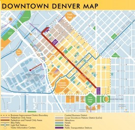 Denver Maps Colorado US Maps of Denver