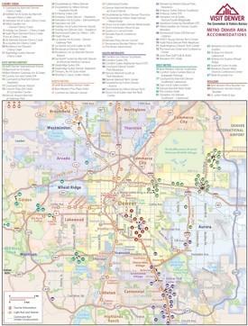Denver metro area hotel map