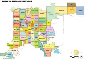 Denver neighbourhood map