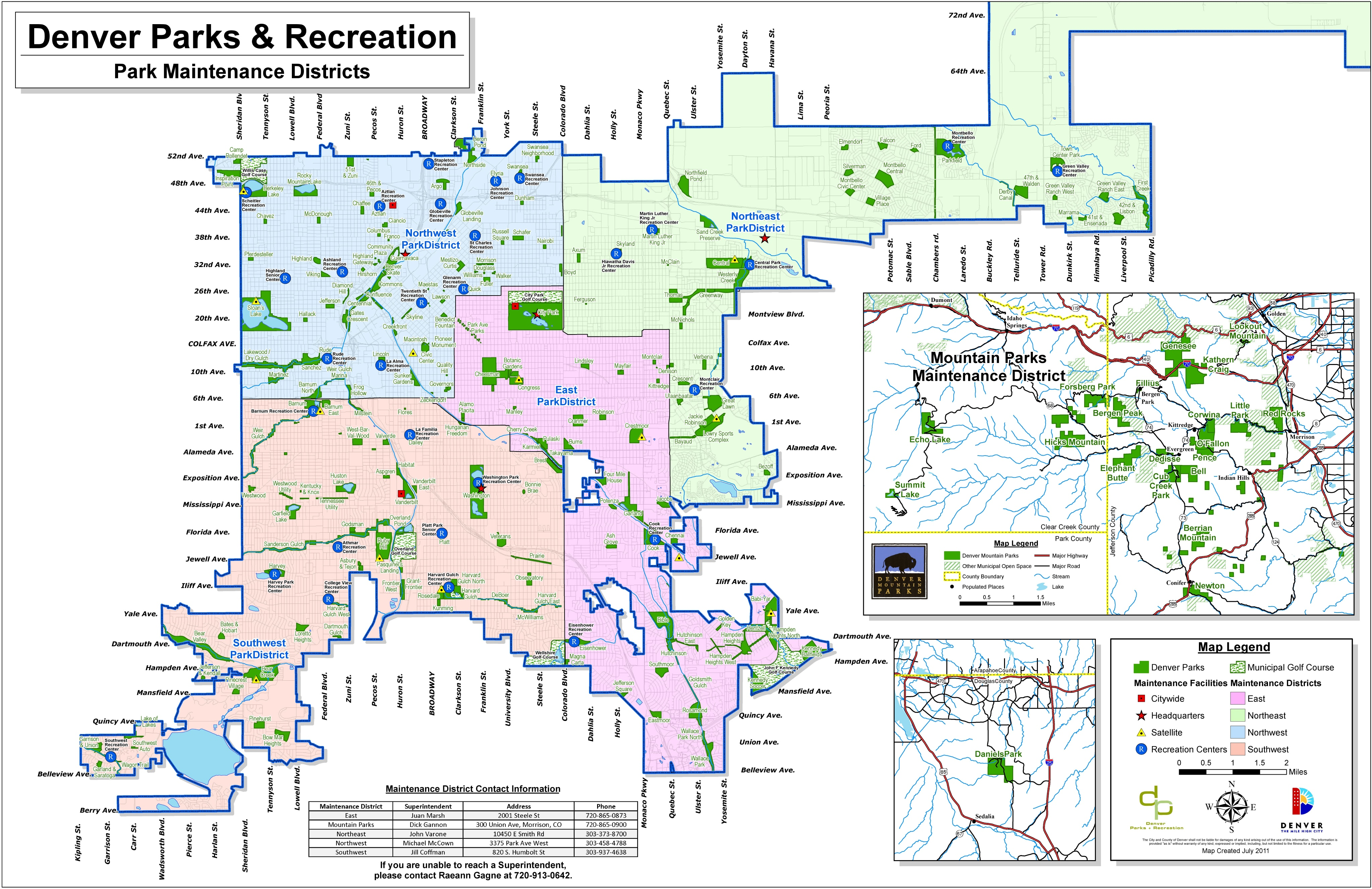 denver parks map
