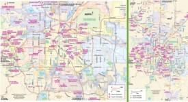 Denver tourist attractions map