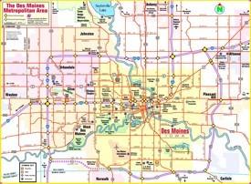 Des Moines area map