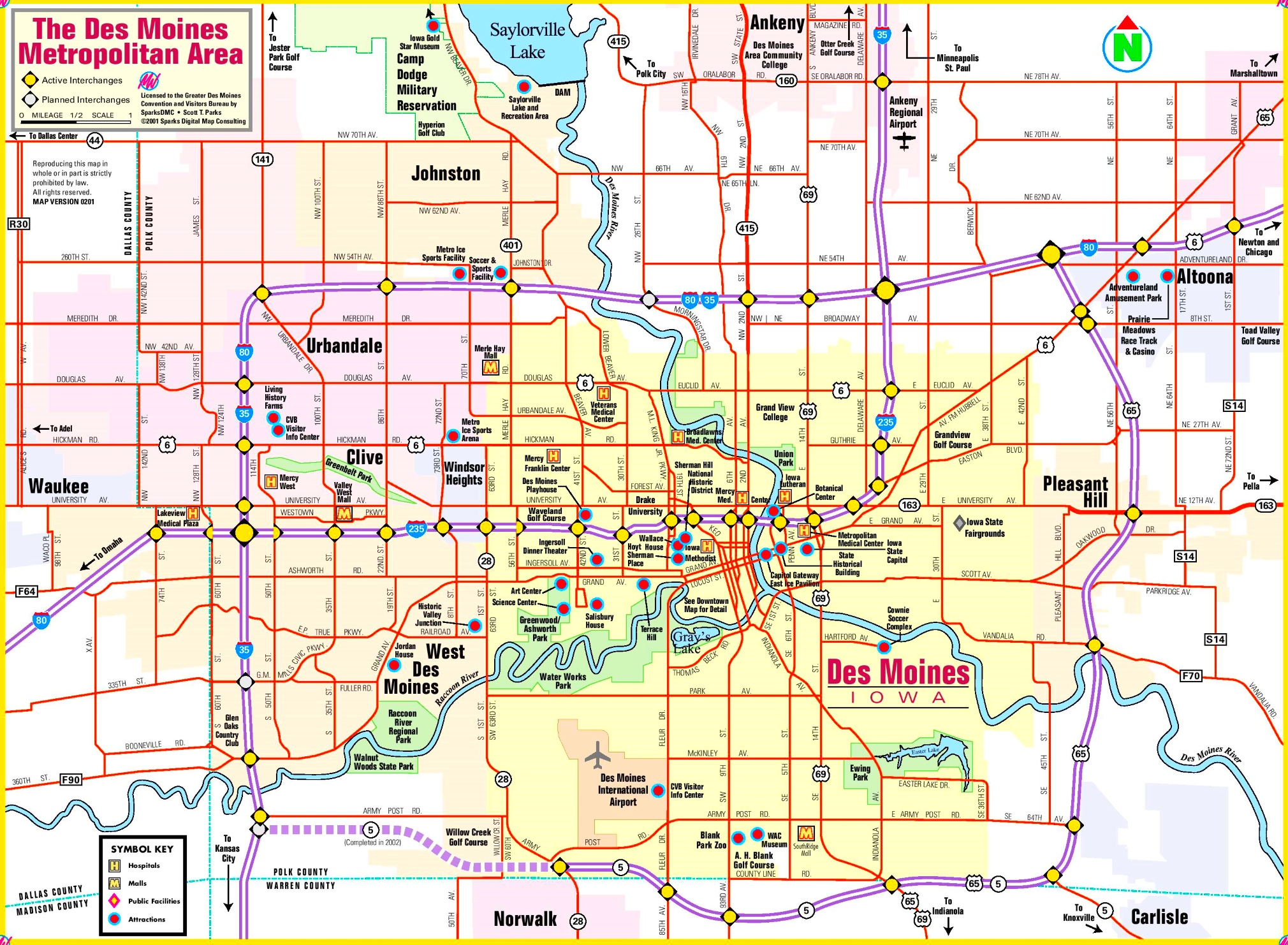 Des Moines Map Des Moines area map