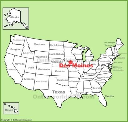 Des Moines Location Map