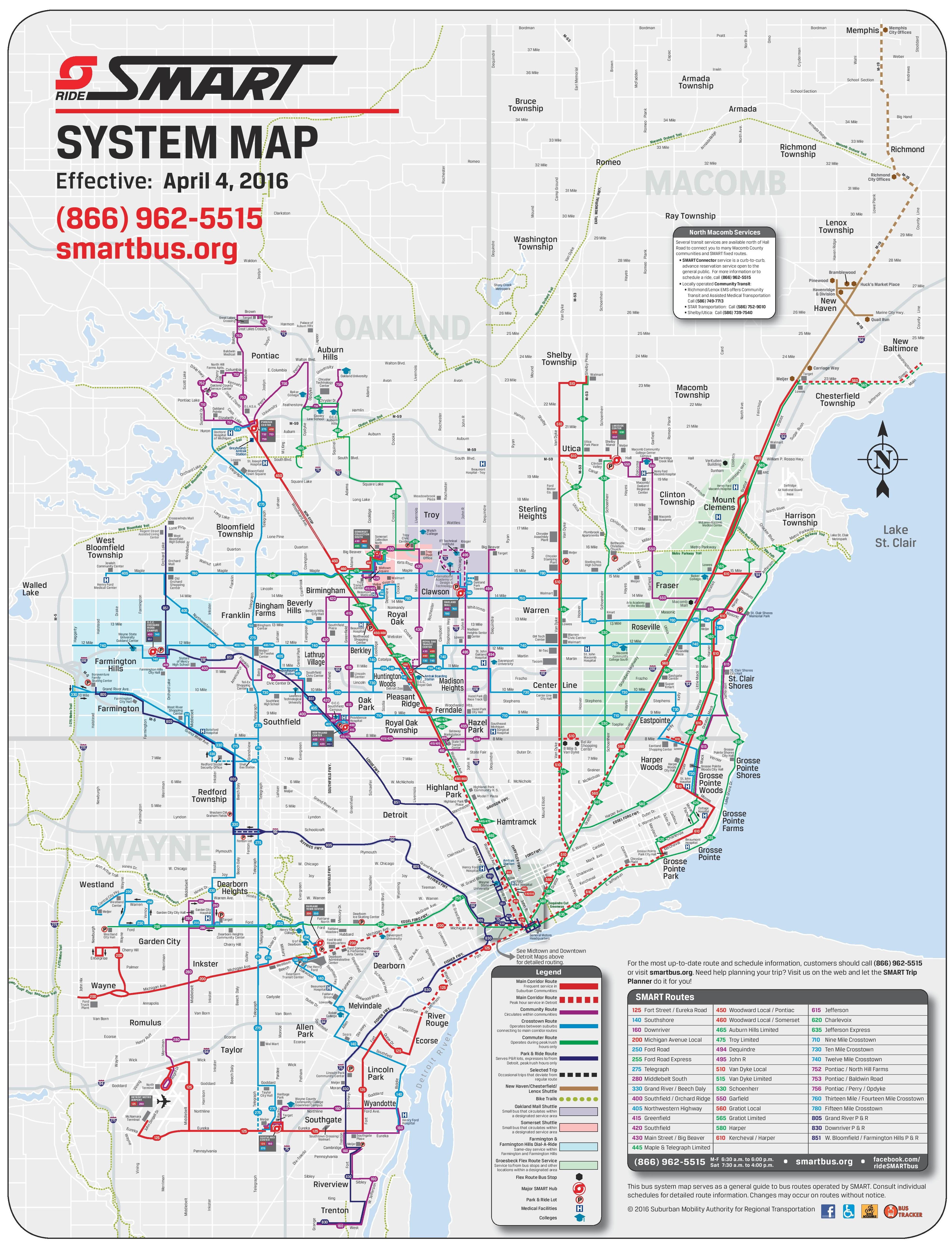Detroit SMART map on