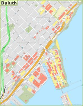 Duluth downtown map