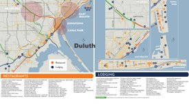 Duluth hotels and restaurants map