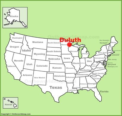 Duluth Location Map