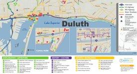 Duluth tourist map