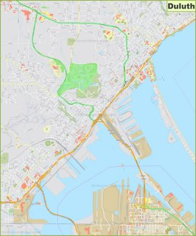 Large detailed map of Duluth