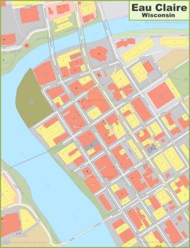 Eau Claire downtown map