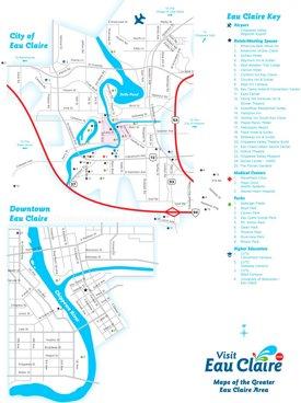 Eau Claire tourist map