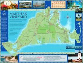 Martha's Vineyard Tourist Map