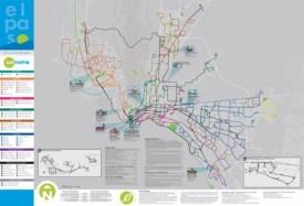 El Paso bus map