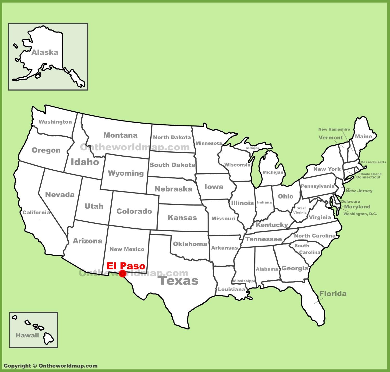 El Paso Map El Paso location on the U.S. Map El Paso Map