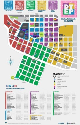 El Paso tourist attractions map
