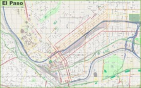 Large detailed map of El Paso