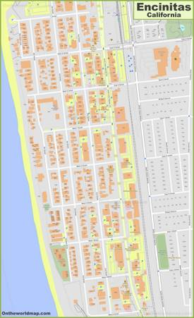 Encinitas City Center Map