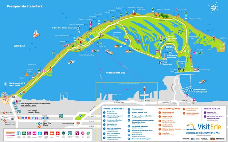 Presque Isle State Park Tourist Map