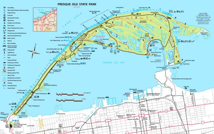 Presque Isle State Park trail map