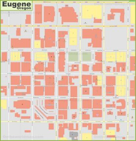 Eugene downtown map