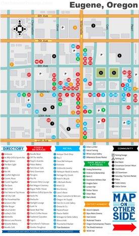 Eugene tourist map