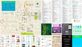 Downtown Fargo walking map