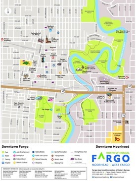 Fargo tourist map
