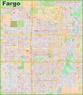 Large detailed map of Fargo