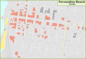 Fernandina Beach city center map