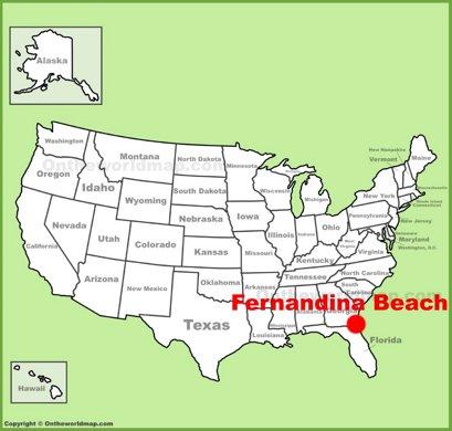 Fernandina Beach Location Map
